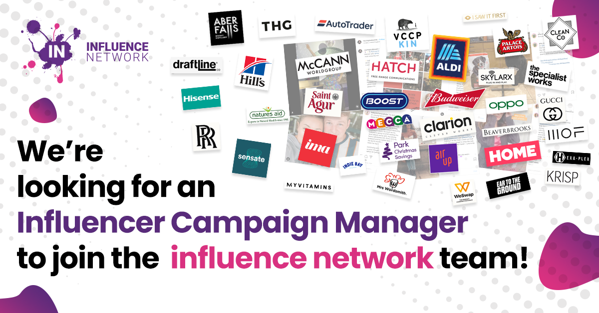 We're hiring - Influencer Campaign Manager