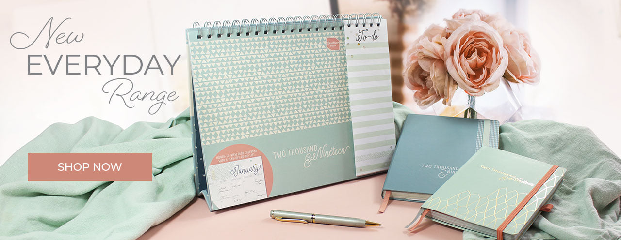 The exciting new Everyday range - diaries and desk calendar to help you get beautifully organised
