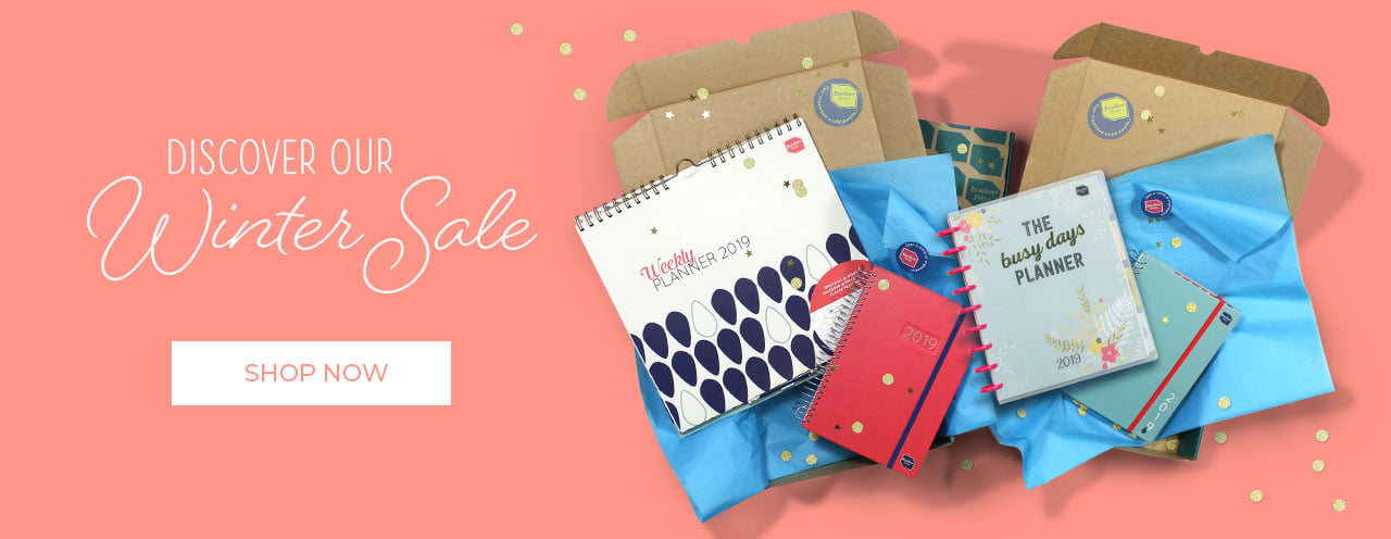 A5 diaries, family calendars and organisers upto 25 percent off from Boxclever Press