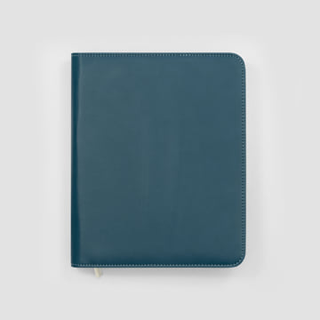 2020 Family Life Book diary in Faux Leather Cover - Deep Sea Blue
