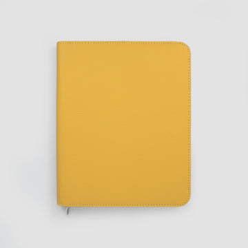 2020 Family Life Book diary in Faux Leather Cover-Mustard Yellow