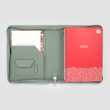 2020 Family Life Book diary in Faux Leather Cover-Sage Green