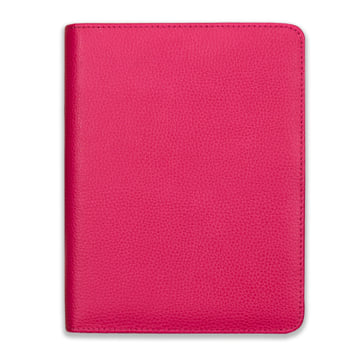 2018-2019 Family Life Book in real leather cover - Fuchsia