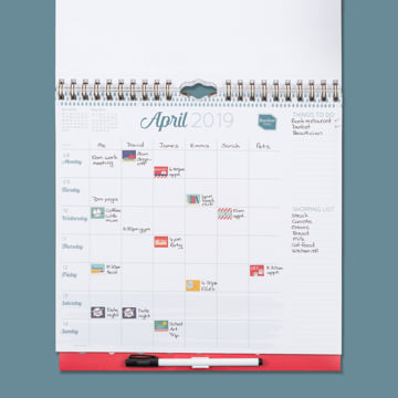 2019 Family Weekly Planner