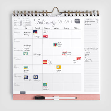 2019 - 2020 Family Weekly Planner Calendar