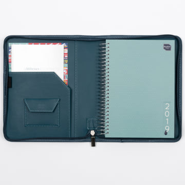2019 Life Book in Faux Leather Cover - Deep Sea Blue