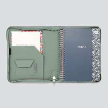 2020 Life Book in Faux Leather Cover-Sage Green