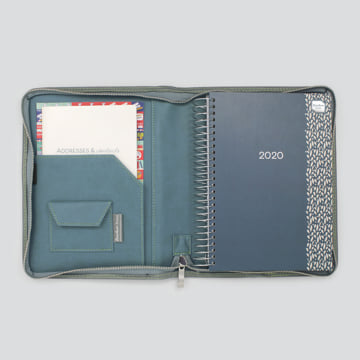 2020 Life Book in Faux Leather Cover-Storm Blue
