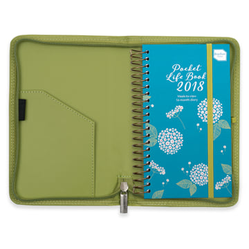 2018 Pocket Life Book Diary in Faux Leather Cover