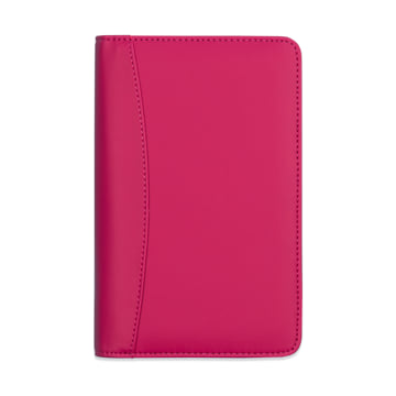 Pocket Life Book in Faux Leather Cover - Raspberry