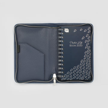 2020 Pocket Life Book diary in faux leather cover-Midnight Blue