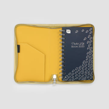 2020 Pocket Life Book diary in faux leather cover-Mustard Yellow