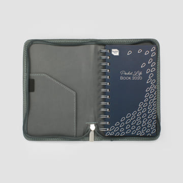 2020 Pocket Life Book diary in faux leather cover-Pebble
