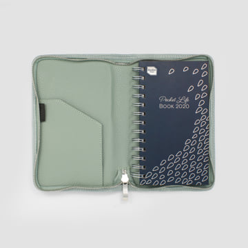 2020 Pocket Life Book diary in faux leather cover-Sage Green