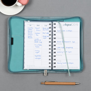 Small Diary Covers - Fountain Blue