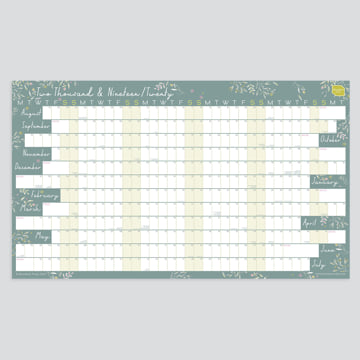 2019 - 2020 Academic Linear Wall Planner-Laminated