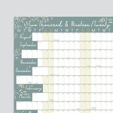 2019 - 2020 Academic Linear Wall Planner-Non-laminated