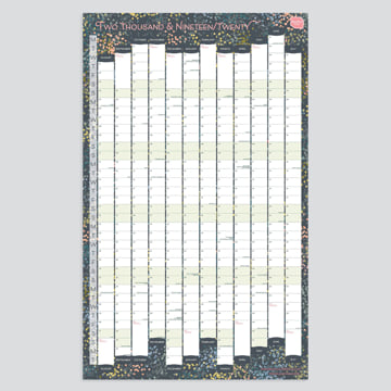 2019 - 2020 Portrait Academic Linear Wall Planner-Non-laminated