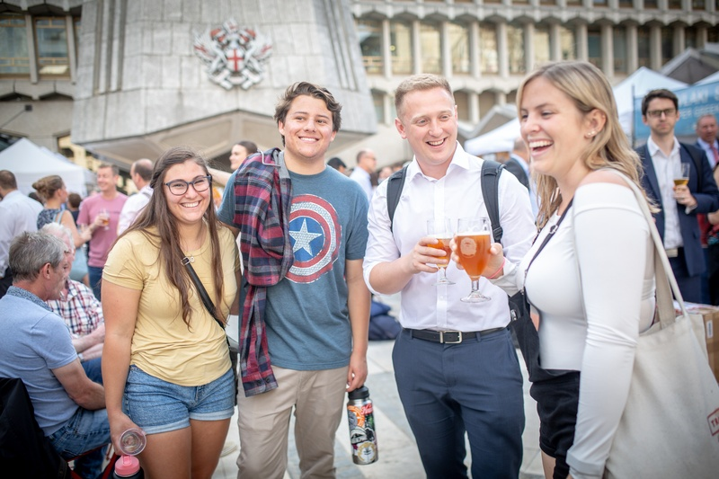 people enjoying city beerfest