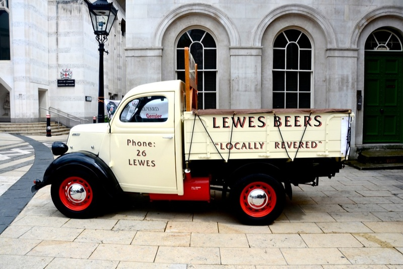 Old beer delivery truck