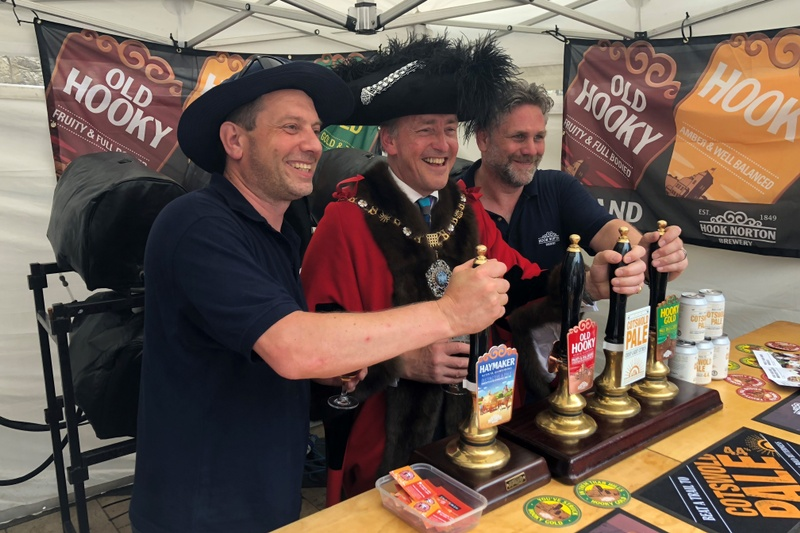 pint being pulled at city beerfest