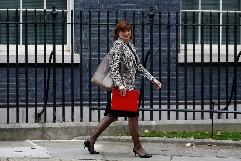 Britain's Digital, Culture, Media and Sport Secretary Nicky Morgan is seen outside Downing Street in London, Britain, October 3, 2019. REUTERS/Henry Nicholls