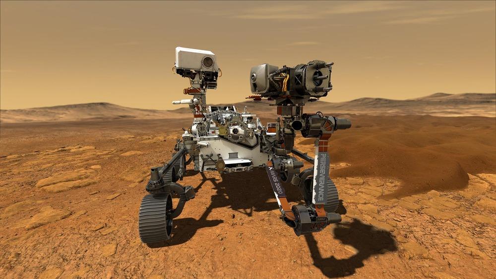 Illustration of NASA's Perseverance rover on Mars. NASA/JPL-Caltech