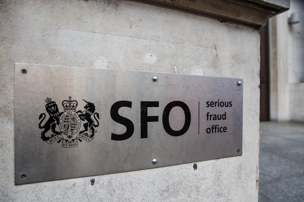 M4RNDA London, UK. 17th February, 2018. A sign outside the Serious Fraud Office (SFO) in Westminster.
