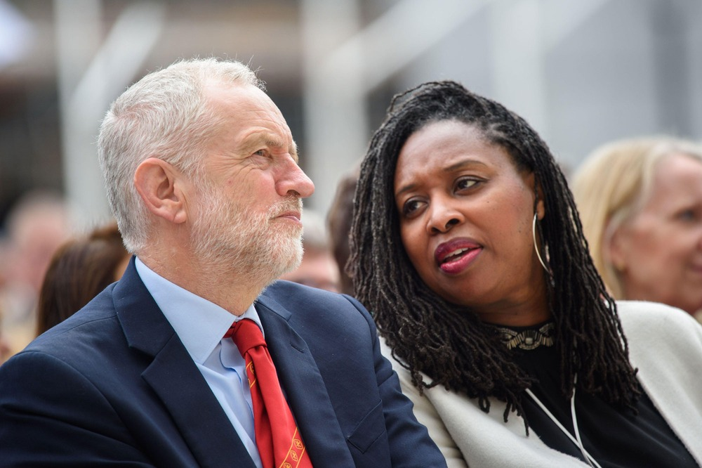 Labour Leader Jeremy Corbyn and Dawn Butler MP at the unveiling of the statue of suffragist leader Millicent Fawcett, in Parliament Square, London. Credit, Matt Crossick/ EMPICS.