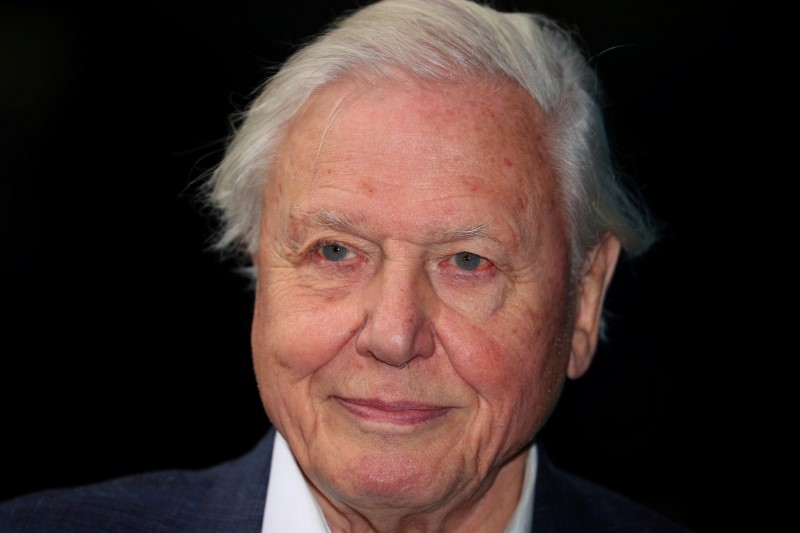 FILE PHOTO: Broadcaster and film maker David Attenborough attends the premiere of Blue Planet II at the British Film Institute in London, Britain, September 27, 2017. REUTERS/Hannah McKay/File Photo