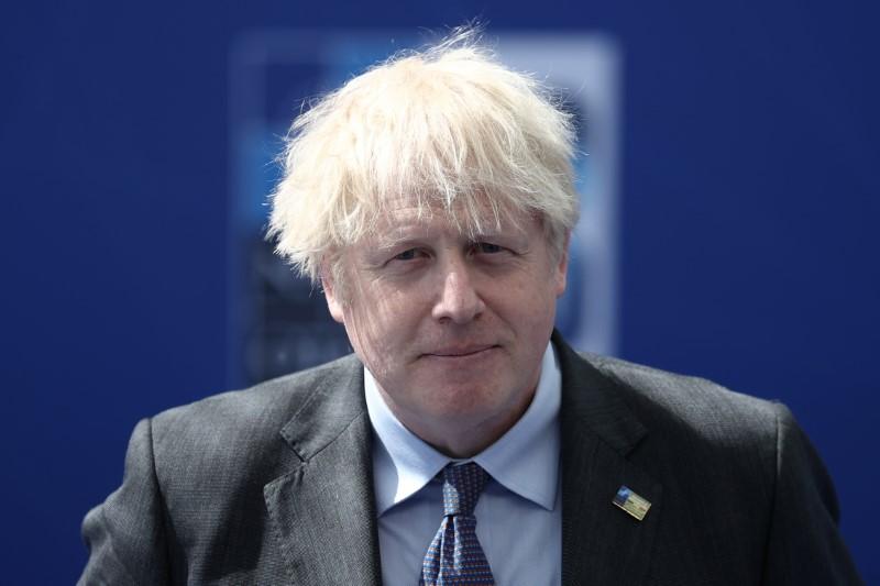 Britain's Prime Minister Boris Johnson arrives for the NATO summit at the Alliance's headquarters, in Brussels, Belgium, June 14, 2021. Kenzo Tribouillard/Pool via REUTERS