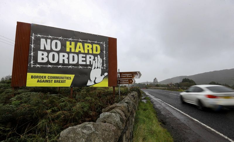 View of the border crossing between the Republic of Ireland and Northern Ireland outside Newry, Northern Ireland, Britain, October 1, 2019. REUTERS/Lorraine O'Sullivan