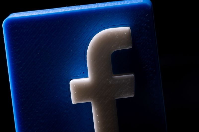 FILE PHOTO: A 3D printed Facebook logo is seen in this illustration picture taken May 4, 2021. REUTERS/Dado Ruvic/File Photo