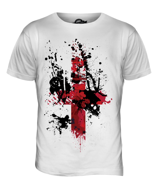 england st george cross abstract print mens t shirt top english
