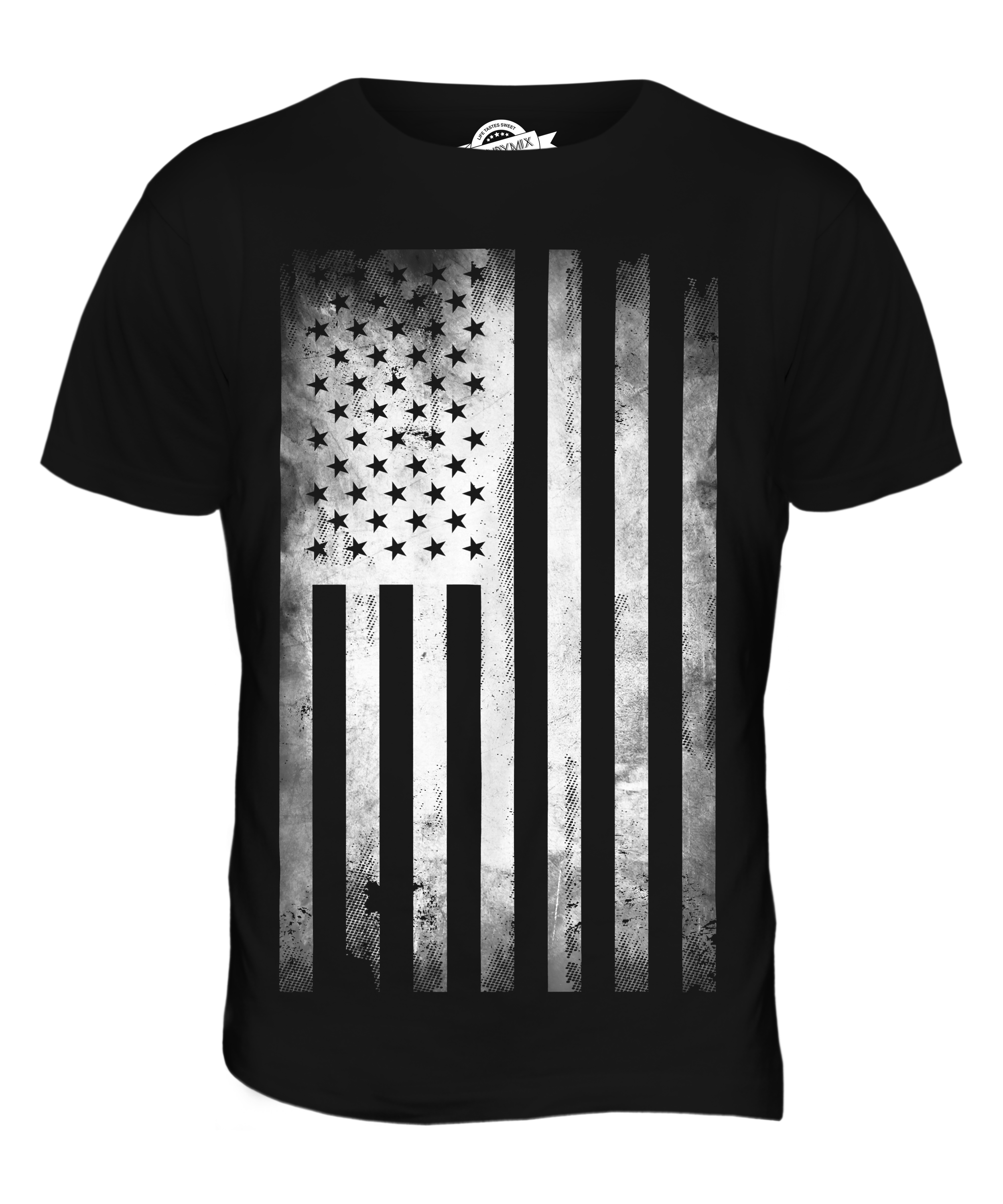 Stars and stripes faded print mens fashion t shirt top for Mens shirt with stars