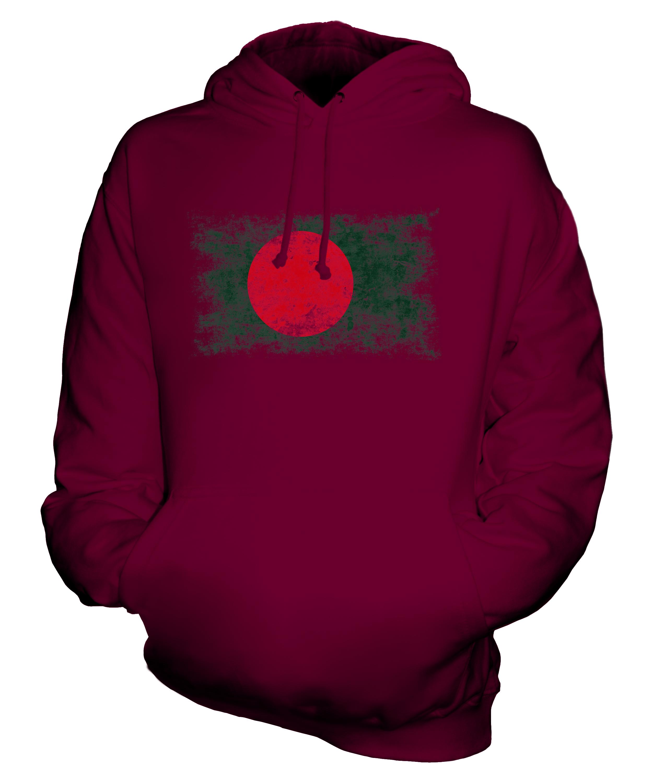 Bangladesh-EFFETTO-INVECCHIATO-FLAG-Unisex-Felpa-Con-Cappuccio-Top-Camicia-bengalese-Calcio-Regalo