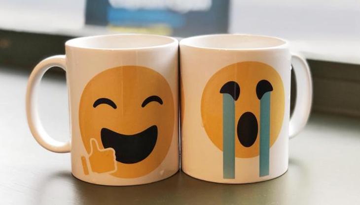 Custom printed Emoji mugs