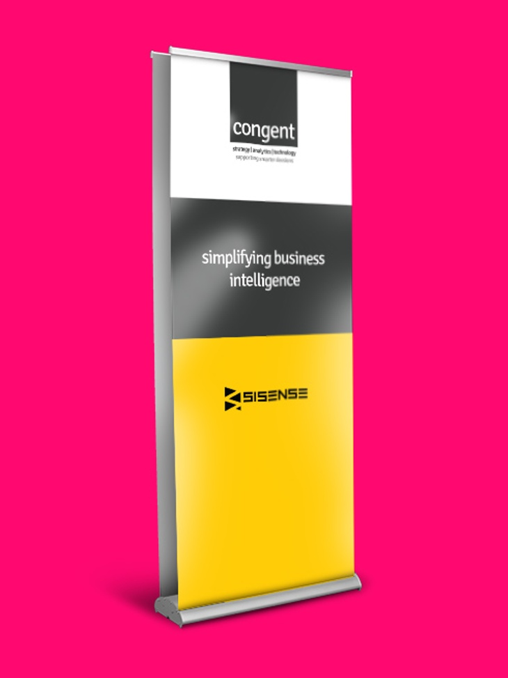 0.8m Double Sided Roller Banner