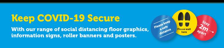 COVID-19 Social distancing floor graphics