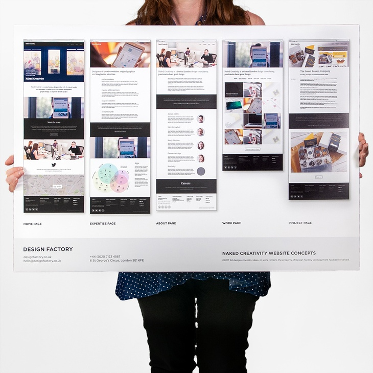 Mounted presentation printing
