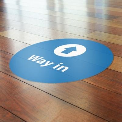 Indoor floor graphics