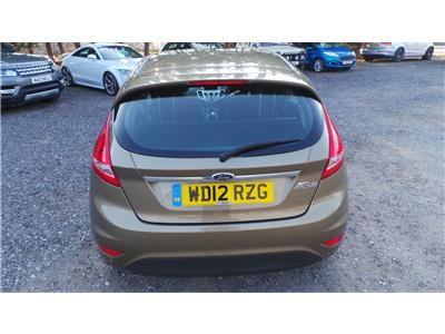 2012 Ford Fiesta Zetec 1388 Petrol Manual 5 Speed 5 Door Hatchback