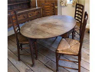 SOLID OAK TABLE & CHAIRS Miscellaneous