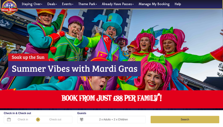 Alton Towers Holiday website