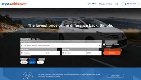 Argus Carhire website