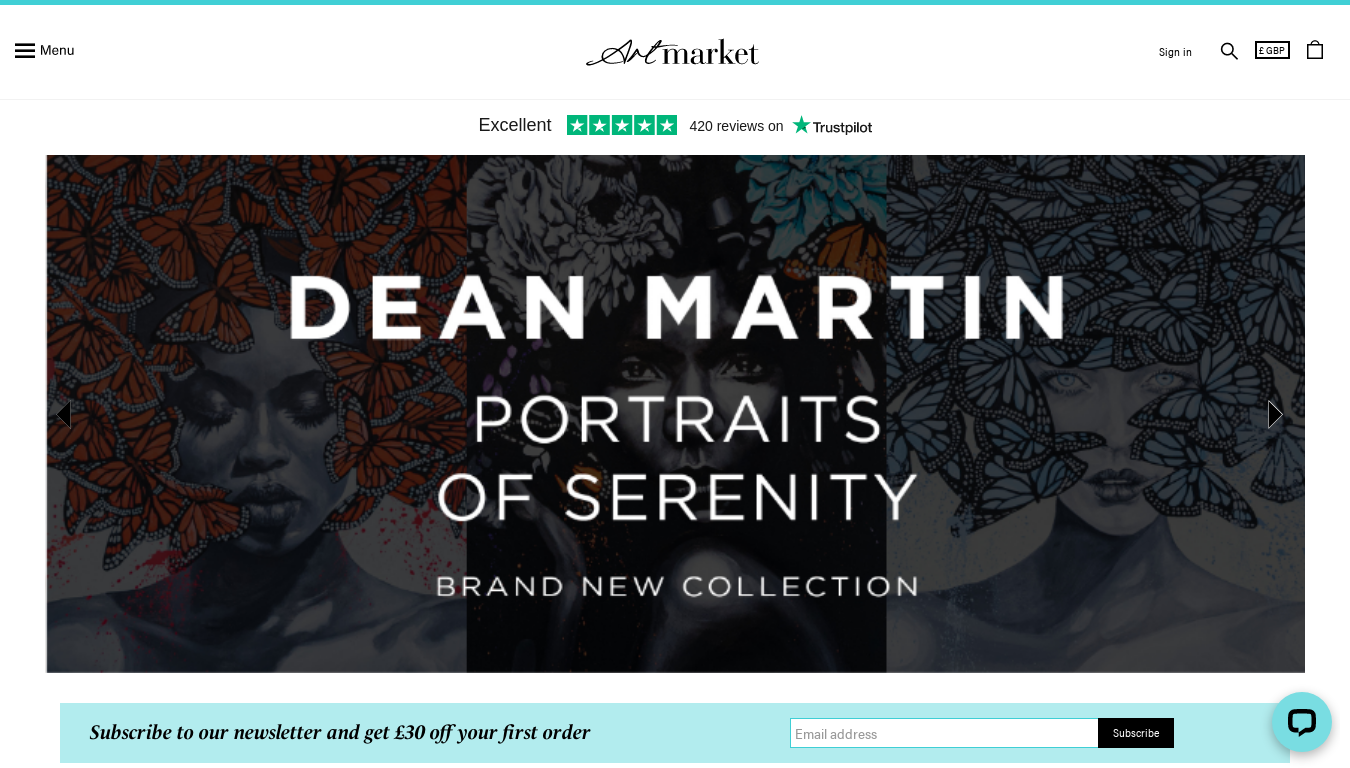 Artmarket Gallery website