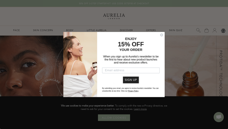 Aurelia Skincare website