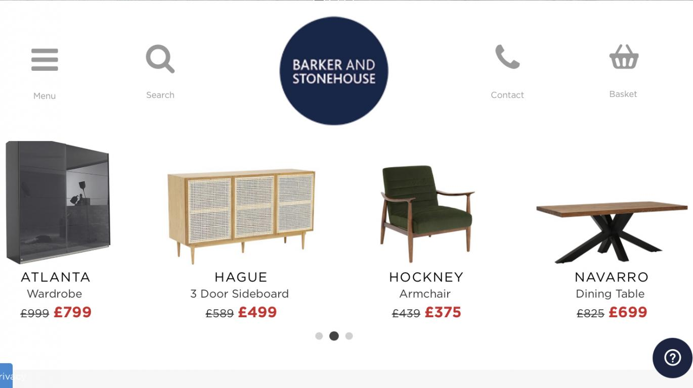 Barker and Stonehouse website