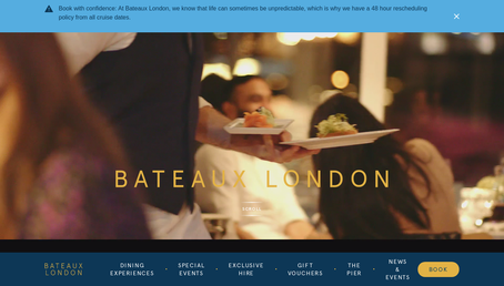 Bateaux London website