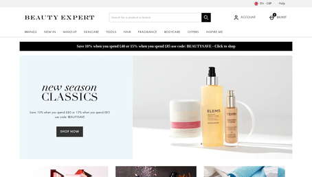 Beauty Expert UK website